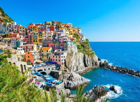 Beautiful view of Manarola town, Cinque Terre national park, Liguria, Italy